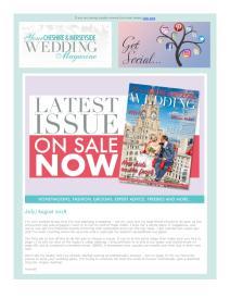 Your Cheshire & Merseyside Wedding magazine - August 2018 newsletter