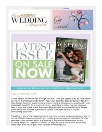 Your North West Wedding magazine - September 2018 newsletter