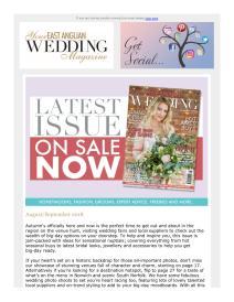 Your East Anglian Wedding magazine - September 2018 newsletter