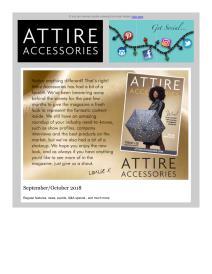 Attire Accessories magazine - October 2018 newsletter