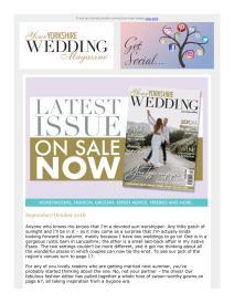 Your Yorkshire Wedding magazine - September 2018 newsletter