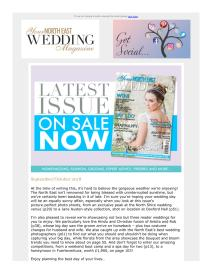 Your North East Wedding magazine - September 2018 newsletter
