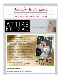 Attire Bridal magazine - October 2018 newsletter