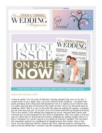 Your Devon & Cornwall Wedding magazine - October 2018 newsletter