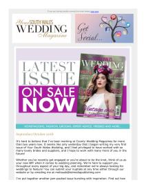 Your South Wales Wedding magazine - October 2018 newsletter