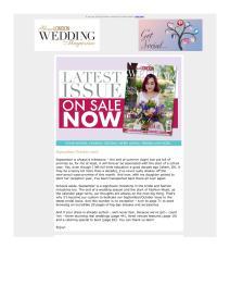 Your London Wedding magazine - October 2018 newsletter