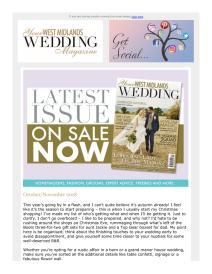 Your West Midlands Wedding magazine - October 2018 newsletter
