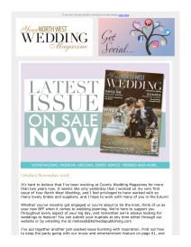 Your North West Wedding magazine - October 2018 newsletter