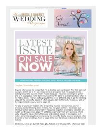 Your Bristol and Somerset Wedding magazine - November 2018 newsletter