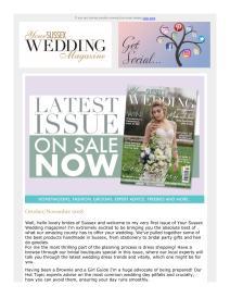 Your Sussex Wedding magazine - November 2018 newsletter