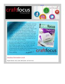 Craft Focus magazine - November 2018 newsletter