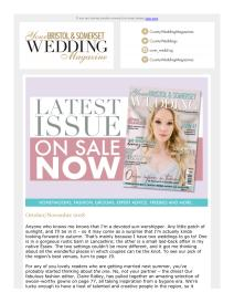 Your Bristol & Somerset Wedding magazine - December 2018 newsletter