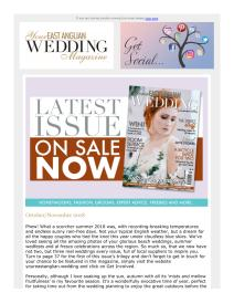 Your East Anglian Wedding magazine - November 2018 newsletter