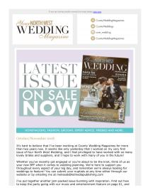 Your North West Wedding magazine - November 2018 newsletter
