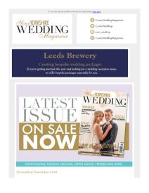 Your Yorkshire Wedding magazine - November 2018 newsletter
