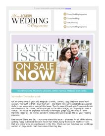 Your London Wedding magazine - November 2018 newsletter