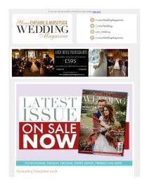 Your Cheshire & Merseyside Wedding magazine - November 2018 newsletter