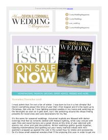 Your Devon and Cornwall Wedding magazine - November 2018 newsletter