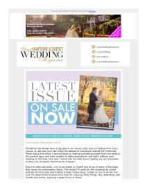 Your Hampshire and Dorset Wedding magazine - December 2018 newsletter