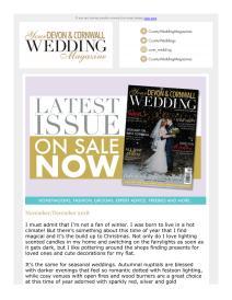 Your Devon and Cornwall Wedding magazine - December 2018 newsletter