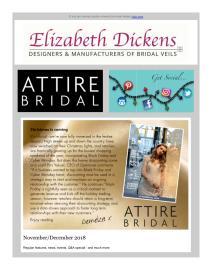 Attire Bridal magazine - December 2018 newsletter