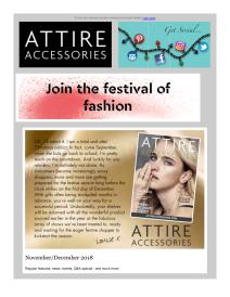 Attire Accessories magazine - December 2018 newsletter