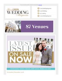 Your London Wedding magazine - December 2018 newsletter
