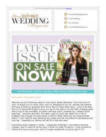 Your South Wales Wedding magazine - December 2018 newsletter
