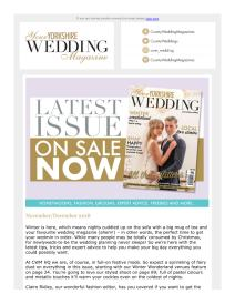 Your Yorkshire Wedding magazine - December 2018 newsletter