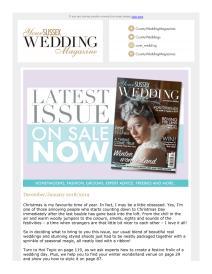 Your Sussex Wedding magazine - December 2018 newsletter