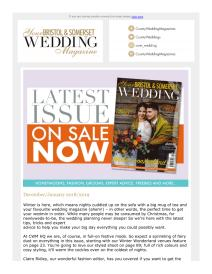 Your Bristol and Somerset Wedding magazine - January 2019 newsletter