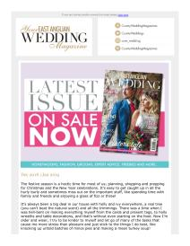 Your East Anglian Wedding magazine - December 2018 newsletter