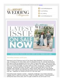 Your North West Wedding magazine - December 2018 newsletter