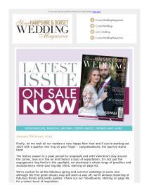 Your Hampshire and Dorset Wedding magazine - January 2019 newsletter