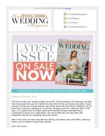 Your Devon and Cornwall Wedding magazine - January 2019 newsletter