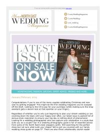 Your North East Wedding magazine - January 2019 newsletter