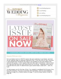 Your South Wales Wedding magazine - January 2019 newsletter