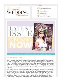 Your Yorkshire Wedding magazine - January 2019 newsletter