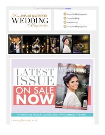 Your Cheshire & Merseyside Wedding magazine - January 2019 newsletter