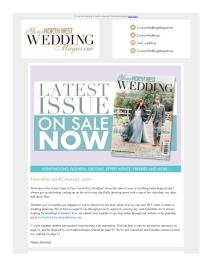 Your North West Wedding magazine - January 2019 newsletter