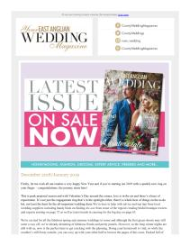 Your East Anglian Wedding magazine - January 2019 newsletter