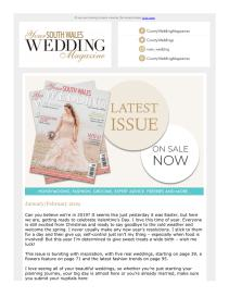 Your South Wales Wedding magazine - February 2019 newsletter