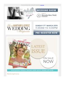 Your Hampshire & Dorset Wedding magazine - March 2019 newsletter
