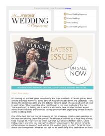Your Yorkshire Wedding magazine - May 2019 newsletter