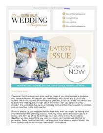 Your South Wales Wedding magazine - May 2019 newsletter