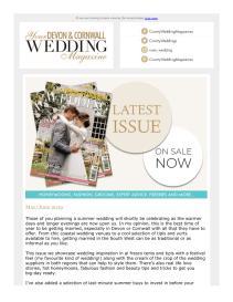 Your Devon & Cornwall Wedding magazine - May 2019 newsletter