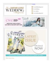 Your Hampshire & Dorset Wedding magazine - May 2019 newsletter