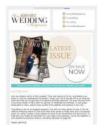 Your North West Wedding magazine - May 2019 newsletter