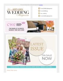 Your Herts & Beds Wedding magazine - June 2019 newsletter