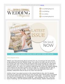 Your Devon & Cornwall Wedding magazine - July 2019 newsletter